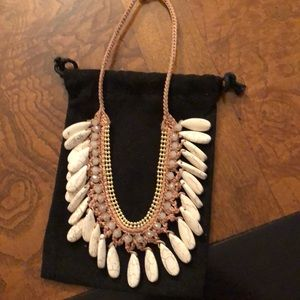 Beautiful necklace with crystals and stones
